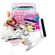 20sets cuadro de bricolaje cantidad de embalaje de uñas kit de uñas tipo de estilo de la decoración del arte del arte del clavo