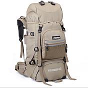 75 L バックパック リュックサック 狩猟 釣り 登山 サイクリング/バイク キャンピング&ハイキング 旅行 防水 防水ファスナー 耐久性 高通気性 多機能の ヘッドセット 防湿 横滑り防止 ナイロン テリレン