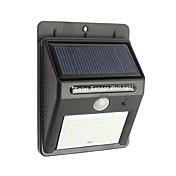 12 LED resistente al agua de movimiento inalámbricos de seguridad luces alimentadas por energía solar al aire libre de la noche la luz del sensor