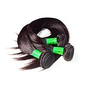 Pelo humano virginal indio del pelo 10a 3bundles 300g mucho color negro natural 100% el pelo humano indio sin procesar teje los paquetes