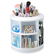 Almacenamiento de Maquillaje Caja de Cosméticos / Almacenamiento de Maquillaje Plastic Un Color Redondo 26*26*27CM Morado / Rosa / Blanco
