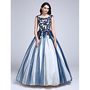 Salón Hasta el Suelo Encaje Tul Baile de Promoción Vestido con Cuentas Apliques por TS Couture®