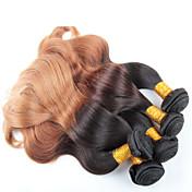 4 paquetes de la onda del cuerpo 12-26 pulgadas de cabello ombre brasileño teje color 1b / 27 #