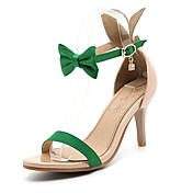 Sandály-Personalizované materiály Koženka-Pohodlné-Dámské-Černá Zelená Červená Bílá-Svatba Kancelář Šaty Party-Vysoký
