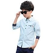 男の子 カジュアル/普段着 カラーブロック コットン シャツ 春 長袖