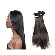 ブラジルレミーヘアー 人毛レミーみの毛エクステ ストレート レミー人間の髪織り
