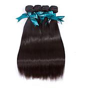 人間の髪編む ブラジリアンヘア ストレート 12ヶ月 4個 ヘア織り