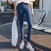 本物のショット!スポット! 2017年春に新しい女性の腰のストレッチパンツの足のジーンズスリムパンツ