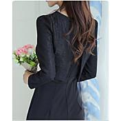 firmar nueva manera coreana delgada era damas delgadas pieza chaqueta ajustada vestido de encaje