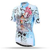 XINTOWN Dámské Krátké rukávy Jezdit na kole Vrchní část oděvu Rychleschnoucí Prodyšné Zadní kapsa Ter Emen Pohodlné TerylenJaro Léto