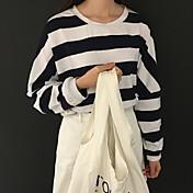 firmar el manguito rotador a principios de la primavera nueva manga murciélago coreano color del golpe del ocio de la raya suéter de
