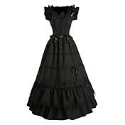 Una Sola Pieza/Vestidos Gosurori Inspiración Vintage Cosplay Vestido  de Lolita Negro Cosecha Mariposa Sin Mangas Longitud Larga Vestido