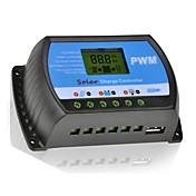 20a 12v / 24v cargador de batería del panel regulador regulador solar con usb lcd pwm