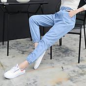 2017年春韓国弾性のバージョンと身構えるフィート幅曲halun 9ポイントのジーンズ
