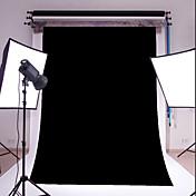 3x5ft黒の薄いビニール写真撮影の背景スタジオ小道具の写真の背景
