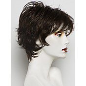 Mujer Pelo humano pelucas sin tapa Ceniza marrón castaño medio Castaño medio / Bleach Blonde Strawberry Blonde / Bleach Blonde Rubio