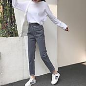 2017年春に新しい韓国のウエストゴムだぶだぶのジーンズの女性に署名