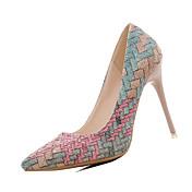 Mujer Tacones Confort PU Primavera Confort Tacón Stiletto Beige Azul Rosa 10 - 12 cms