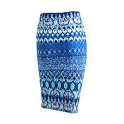 Dámské Vintage / Šik ven Midi / Délka ke kolenům Bavlna / Modal Lehce elastické Sukně