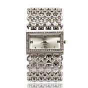 女性用 ファッションウォッチ リストウォッチ ブレスレットウォッチ 模造ダイヤモンド ラインストーン クォーツ 合金 バンド エレガント腕時計 シルバー ゴールド ローズゴールド