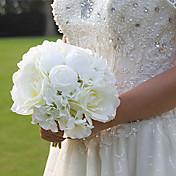 """Svatební kytice Kulatý Růže Kytice Svatba Hedvábí 20 cm (cca 7,87"""")"""