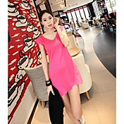 新しい夏の波エッジVネックドレススリムパッケージヒップファッションドレス安いスーパー良い品質