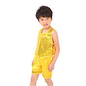 私たちはジャズ衣装子供たちのパフォーマンスのスパンコールトップショーツ