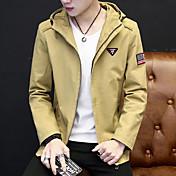 2017年春カジュアルメンズフード付きジャケットスリム若い学生のファッションスポーツウェアのファッション
