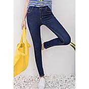 Signo nueva primavera fue pantalones de cintura delgada jeans pantyhose mujer pies lápiz pantalones estiramiento coreano