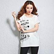Tiro real en el verano 2016 nuevos europeos y americanos grandes yardas camiseta femenina camiseta de manga corta floja fue delgada