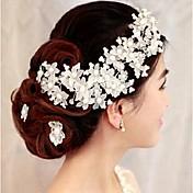 クリスタル 人造真珠 かぶと-結婚式 パーティー コサージュ 1個