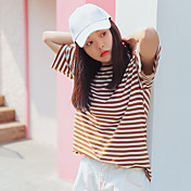 yugo real Toma versión coreana de la nueva raya del viento de la universidad de gran tamaño suelta la camiseta