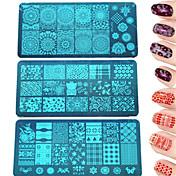 1pcs de la manera DIY de estampado colorido plato&bella imagen de manicura de acero inoxidable de belleza plantillas de uñas placa de