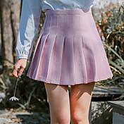 #6926モデルの星はダークブルーのスカートを推奨している