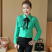 職業ボト2017春新しい韓国のシフォンシャツブラウス小さなシャツ長袖シャツの女性の弓