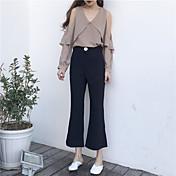 Firmar un altavoz de alta calidad hebilla lateral cremallera pantalones pantalones de traje