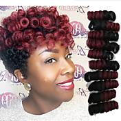 Ganchillo bouncy curl torsión trenzas curlkalon cabello extensiones kanekalon afro rizado cabello rizado trenzas marley trenzado