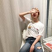 oportunidad real en el verano de 2017 la nueva versión coreana del corazón del melocotón dulce pistola gesto impreso camiseta de manga