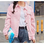 符号2017春新しい韓国のロマンチックなピンクラペルシングルブレストジャケット