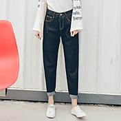 2017クール繊維将来の爆発モデルのハーレムパンツの足緩いジーンズ
