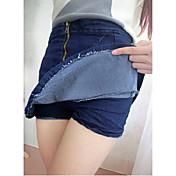 Falda de cola de pez volante bolsillos altos cadera falda de mezclilla culottes busto femenino párrafo corto