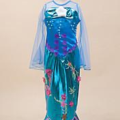 Vestidos Inspirado por The Little Mermaid Alice Carroll Animé Accesorios de Cosplay Leotardo Cola Azul Terylene