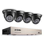 Zosi® 8ch hd-tvi 1080p lite sistema de seguridad de video dvr grabador con 4x hd 1280tvl cámara resistente al clima cctv