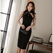 2017夏の新しい韓国の女性は気質スリムセクシーなホルターネックのドレスパッケージヒップスカートのドレスをオール
