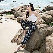 Verdadero tiro 17 verano nuevo viento nacional pantalones pantalones bohemio femenino de playa pantalones de halun de canción de ancho