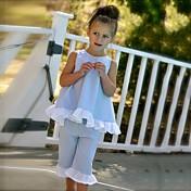 Dívčí Bavlna Polyester Jdeme ven Běžné/Denní Plážové Jednobarevné Puntíky Léto Soupravy,Bez rukávů Sady oblečení