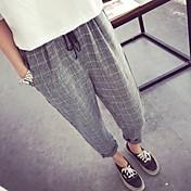 2015 nueva caída suelta, algodón casual mezcla pantalones harem pantalones pantalones pantalones pantalones pantalones