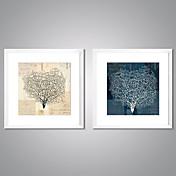 Impresiones  Enmarcadas En Lienzo Abstracto Floral/Botánico Tradicional Realismo,Dos Paneles Lienzos Estampado Decoración de pared For