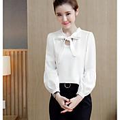 Firmar mujeres&# 39; s 2017 primavera nuevo ventilador coreano color puro con una blusa de gasa puff hembra salvaje
