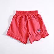 Pantalones Chica Casual/Diario Un Color AlgodónVerano